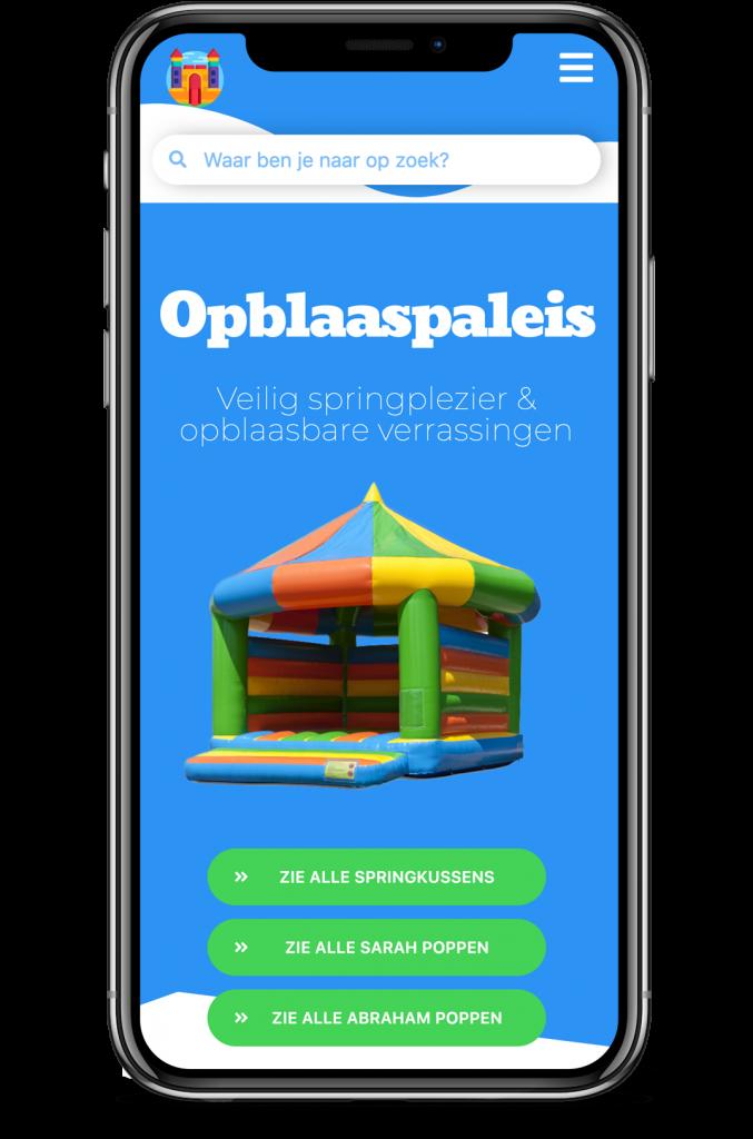 Opblaaspaleis website