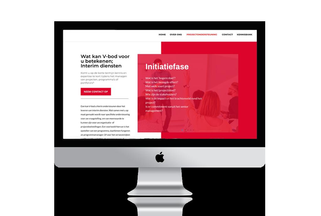 Professionele website V-bod